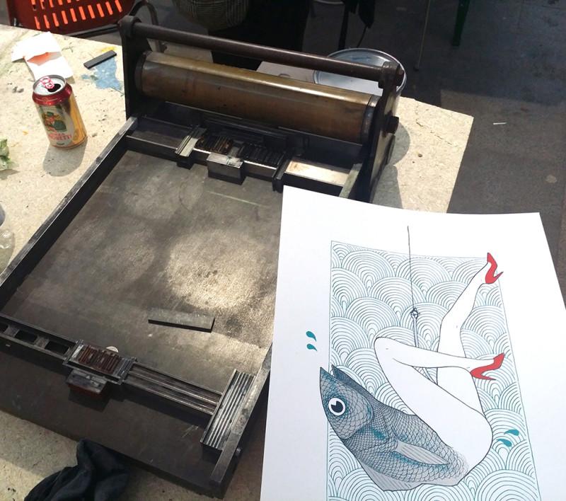 17- letterpress and screen print experiment