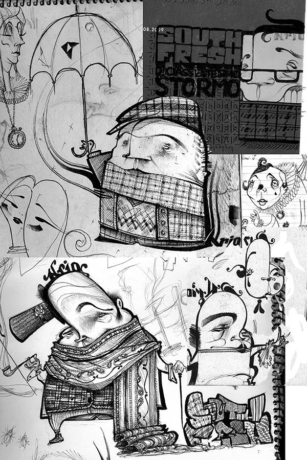 15- rough sketches